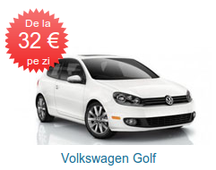 VW Golf de la 32 EURO pe zi